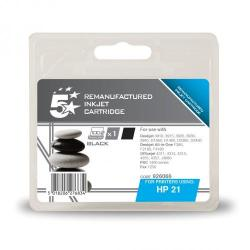 Cheap Stationery Supply of 5 Star Office Remanufactured Inkjet Cartridge Page Life 190pp 5ml Black HP No.21 C9351AE Alternative Office Statationery