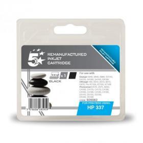 5 Star Office Remanufactured Inkjet Cartridge Page Life 420pp 11ml Black HP No.337 C9364EE Alternative