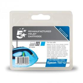 5 Star Office Remanufactured Inkjet Cartridge 495pp 5.5ml Cyan Epson T071240 Alternative