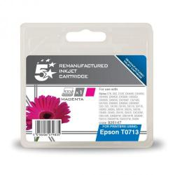 Cheap Stationery Supply of 5 Star Office Remanufactured Inkjet Cartridge Page Life 280pp 5.5ml Magenta Epson T071340 Alternative Office Statationery