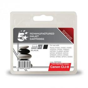 5 Star Office Remanufactured Inkjet Cartridge Page Life 1145pp 13ml Black Canon CLI-8BK Alternative
