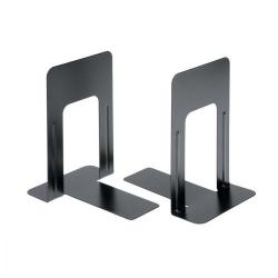 Cheap Stationery Supply of 5 Star Office Bookends 180mm Metal Heavy Duty 7 Inch Black Pack of 2 Office Statationery