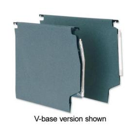 5 Star Office Lateral Suspension File Manilla 30mm Wide-base 180gsm Foolscap Green Pack of 50