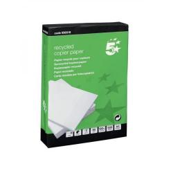 Cheap Stationery Supply of 5 Star Eco Copier Paper Recycled Ream-Wrapped 80gsm A4 White 5 x 500 Sheets Office Statationery
