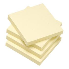 5 Star Eco Re-Move Recycled Notes Repositionable Pad of 100 Sheets 76x76mm Yellow Pack of 12