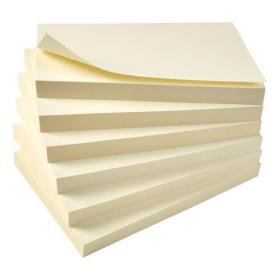 5 Star Eco Re-Move Recycled Notes Repositionable Pad of 100 Sheets 76x127mm Yellow Pack of 12