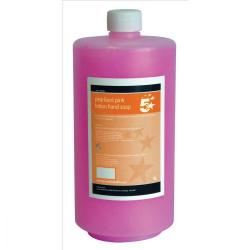 Cheap Stationery Supply of 5 Star Facilities Lotion Hand Soap Pearlised Pink 1 litre Office Statationery