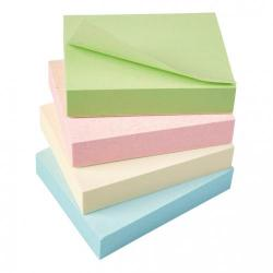 Cheap Stationery Supply of 5 Star Eco Recycled Notes 38x51mm Re-Move Pastel Pack of 12 Office Statationery