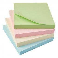 Cheap Stationery Supply of 5 Star Eco Repositionable Notes 76x76mm Re-Move Pastel Pack of 12 Office Statationery