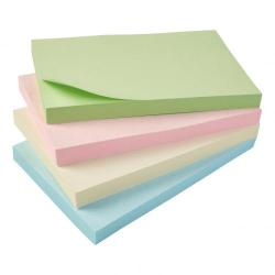 Cheap Stationery Supply of 5 Star Eco Notes Recycled 127x76mm Re-Move Pastel Pack of 12 Office Statationery