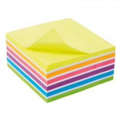 Cheap Stationery Supply of 5 Star Office Re-Move Sticky Notes Rainbow Cube 76x76mm 6 Bright Colours 400 Sheets Office Statationery