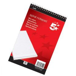 Cheap Stationery Supply of 5 Star Office Shorthand Pad Wirebound 60gsm Ruled 200pp A5 Red Office Statationery