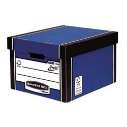 Cheap Stationery Supply of Bankers Box by Fellowes Premium PRESTO Classic Stackable Storage Box (Blue) with Lift off Lid (Pack of 10) 7250603/0604 Office Statationery