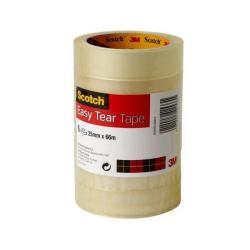 Cheap Stationery Supply of 3M Scotch Easy Tear Transparent Tape (25mm x 66m) ET2566T6 (Pack of 6) Offer: Buy 3 Packs for the Price of 2 (October-December 2014) ET2566T6-XX Office Statationery