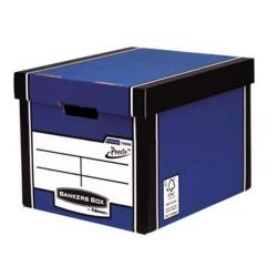 Cheap Stationery Supply of Bankers Box by Fellowes Premium 726 (A4/Foolscap)Tall Storage Box with Lift-off Locking Lid - 1 x Pack of 10 Storage Boxes 7260601XX-2 Office Statationery