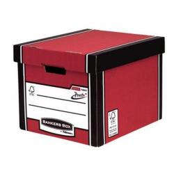 Cheap Stationery Supply of Bankers Box by Fellowes Premium 726 (A4/Foolscap) Tall Storage Box with Lift-off Locking Ltd - 1 x Pack of 10 Storage Boxes 7260701XX-2 Office Statationery