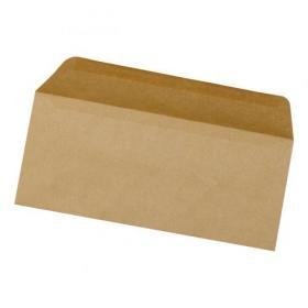 5 Star Office Envelopes FSC Wallet Recycled Lightweight Gummed 75gsm DL 220x110mm Manilla Pack of 1000