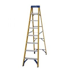 Cheap Stationery Supply of Abru Fibreglass Swingback Step Ladder 8 Tread Yellow 7160818 Office Statationery