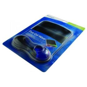 Kensington Duo Gel Wave Mouse Pad with Wrist Rest Blue/Smoke 62401