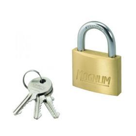 Master Lock Magnum Padlock 50mm Solid Brass with Keys 40044
