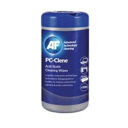 Cheap Stationery Supply of AF PC-Clene Anti-Static Cleaning Wipes Tub (Pack of 100) PCC100 Office Statationery
