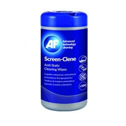 Cheap Stationery Supply of AF Screen-Clene Anti-Static Screen Wipes Tub (Pack of 100) ASCR100T Office Statationery