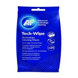 Cheap Stationery Supply of AF Mobile Technology Cleaning Wipes (Pack of 25) AMTW025P Office Statationery