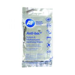 Cheap Stationery Supply of AF Antibacterial Sanitising Screen Wipes (Pack of 25) ABTW025P Office Statationery