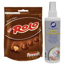 Cheap Stationery Supply of AF White Boardclene Pump Spray 250ml with FOC Rolos AFI83851 Office Statationery