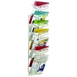 Cheap Stationery Supply of Alba Wall Mounted 7 Pocket Literature Holder A4 Chrome DD7M Office Statationery