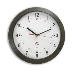 Cheap Stationery Supply of Alba Easytime Wall Clock Quartz with Plastic Lens and Case Diameter 320mm Black HORMUR N Office Statationery