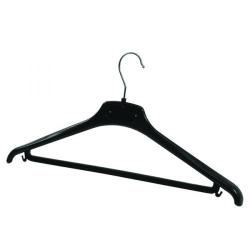 Cheap Stationery Supply of Alba Plastic Coat Hanger Black (Pack of 20) PMBASICPL Office Statationery