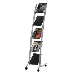 Cheap Stationery Supply of Alba 5 Shelf Single Sided Mobile Literature Display Stand 1 x A4 DD5PM Office Statationery
