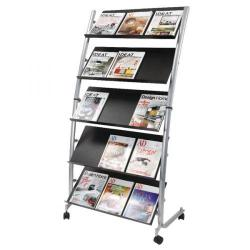 Cheap Stationery Supply of Alba 5 Shelf Mobile Literature Display Stand 3 x A4 DD5GM Office Statationery