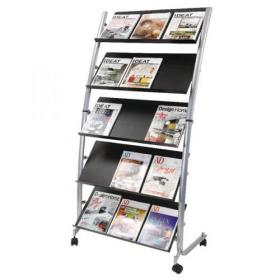 Alba 5 Shelf Mobile Literature Display Stand 3 x A4 DD5GM