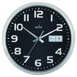 Cheap Stationery Supply of Acctim Supervisor Wall Clock 320mm Chrome/Black 21023 Office Statationery