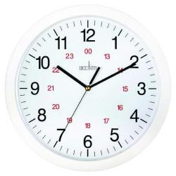 Cheap Stationery Supply of Acctim Metro 24 Hour Plastic Wall Clock 300mm White 21162 Office Statationery