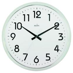 Cheap Stationery Supply of Acctim Orion Silent Sweep Wall Clock 320mm Chrome/White 21287 Office Statationery