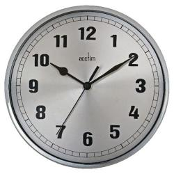 Cheap Stationery Supply of Acctim Ruben Wall Clock Chrome 27357 Office Statationery