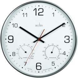 Cheap Stationery Supply of Acctim Komfort 30.5cm Metal Thermo Hygro Wall Clock 29147 Office Statationery