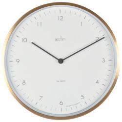 Cheap Stationery Supply of Acctim Bronx 30cm Wall Clock Brass 29458 Office Statationery