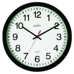 Cheap Stationery Supply of Acctim Controller Silent Sweep Wall Clock 368mm Black 93/704B Office Statationery