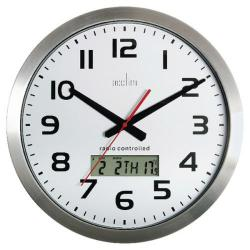 Cheap Stationery Supply of Acctim Meridian Radio Controlled Wall Clock Aluminium 74447 Office Statationery