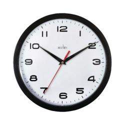 Cheap Stationery Supply of Acctim Aylesbury Wall Clock Black 92/302 Office Statationery