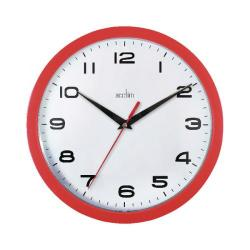 Cheap Stationery Supply of Acctim Aylesbury Wall Clock Red 92/303 Office Statationery