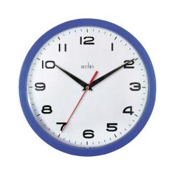 Cheap Stationery Supply of Acctim Aylesbury Wall Clock Blue 92/308 Office Statationery