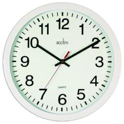 Cheap Stationery Supply of Acctim Controller Silent Sweep Wall Clock 368mm White 93/704 Office Statationery