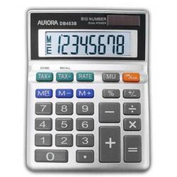 Cheap Stationery Supply of Aurora Grey 8-Digit Semi-Desk Calculator DB453B Office Statationery