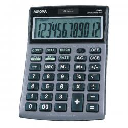 Cheap Stationery Supply of Aurora Grey/Black 12-Digit Semi-Desk Calculator DT661 Office Statationery