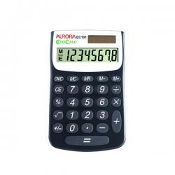 Cheap Stationery Supply of Aurora Black /White 8-Digit Handheld Calculator EC101 Office Statationery
